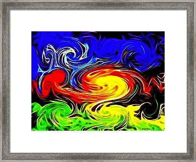 Sunset Swirl Framed Print