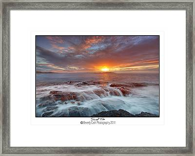 Sunset Tides - Cemlyn Framed Print
