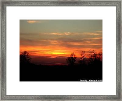 Sunset Framed Print by Timothy Hudson