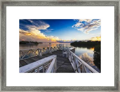 Sunset To Relax Framed Print by George Oze
