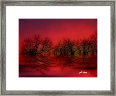 Sunset Trees Framed Print by Julie Grace