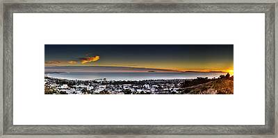 Sunset Ventura Ca Framed Print by Joe  Palermo