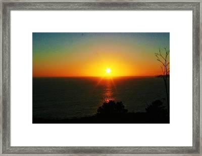 Sunset View Framed Print by Alma Yamazaki