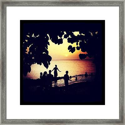 Sunset View Framed Print by Natasha Marco