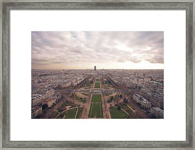 Sunset View Over Eiffel Tower Framed Print by Nico De Pasquale Photography