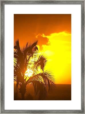 Sunset, Wailea, Maui, Hawaii, Usa Framed Print by Stuart Westmorland