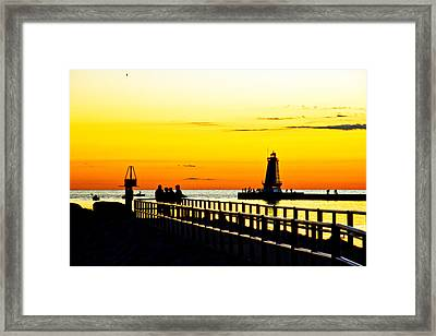 Framed Print featuring the photograph Sunset Walk by Randall  Cogle