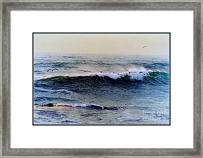Framed Print featuring the photograph Sunset Watch  by Kathy Bassett