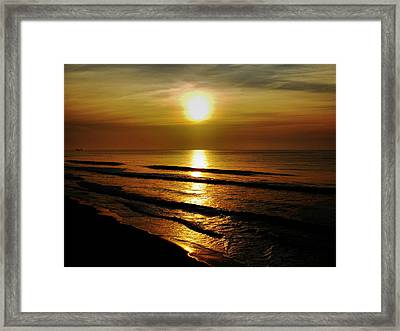 Sunset Waves Framed Print by Colin Clancy