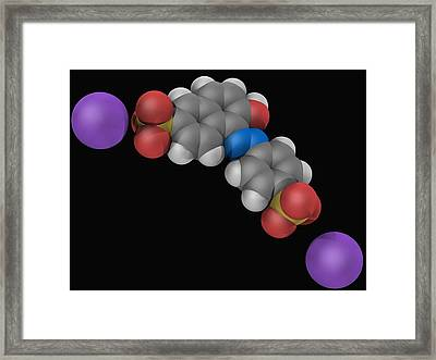 Sunset Yellow Fcf Molecule Framed Print by Laguna Design