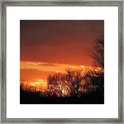 Sunsetter Framed Print