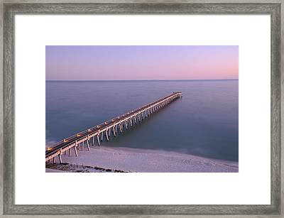 Sunsetting On The Pier Framed Print