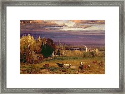 Sunshine After Storm Or Sunset Framed Print by George Snr Inness
