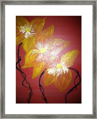 Sunshine Flowers Framed Print by Pretchill Smith