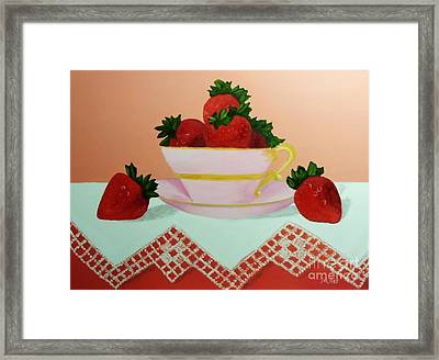 Sunshine In A Cup Framed Print by Peggy Miller