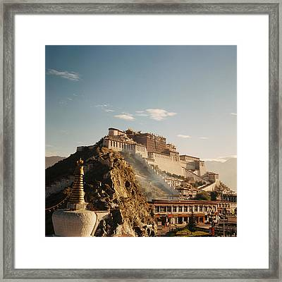 Sunshine In Potala Framed Print by Mona