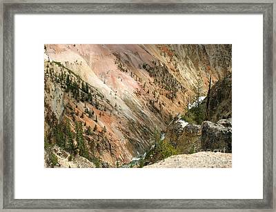 Framed Print featuring the photograph Sunshine On Grand Canyon In Yellowstone by Living Color Photography Lorraine Lynch