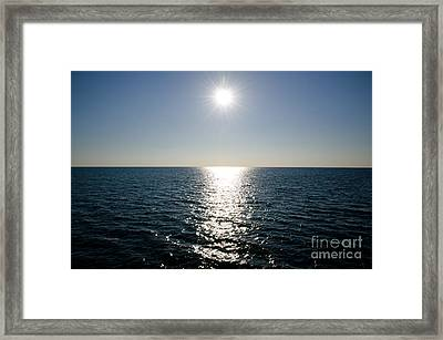 Sunshine Over The Mediterranean Sea Framed Print