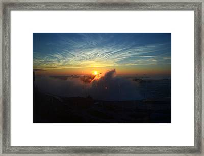 Framed Print featuring the photograph Sunsrise At Niagara by Pravine Chester