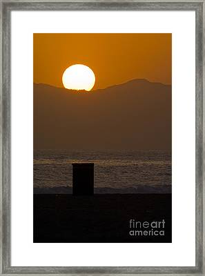 Sunst Over Malibu  Framed Print by Micah May