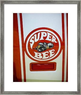 Super Bee Logo Framed Print