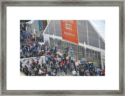 Super Bowl Zip Line Framed Print by Brittany H