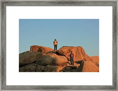 Framed Print featuring the photograph Super Kid And Friend by Carolina Liechtenstein