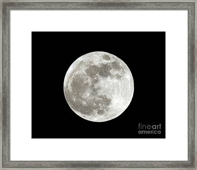 Super Moon 5 5 2012 Framed Print by Andee Design