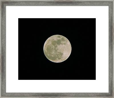 Framed Print featuring the photograph Super Moon May 5  2012 by Brian Wright