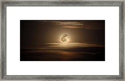 Super Moon Of 2012 Framed Print by Elizabeth Hart