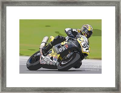 Superbike Racer II Framed Print by Clarence Holmes
