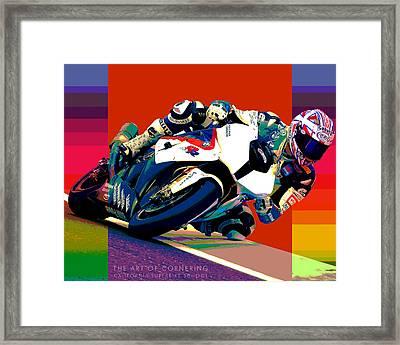 Superbike School Bmw Framed Print