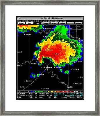 Supercell With Hook Echo, Radar Framed Print by Science Source