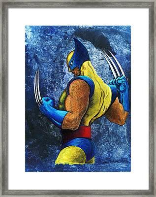 Superhero Framed Print by Steve Benton