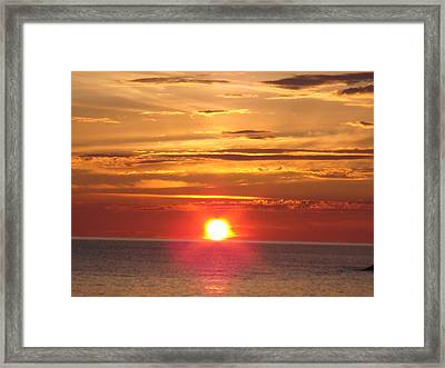 Framed Print featuring the photograph Superior Setting by Bonfire Photography