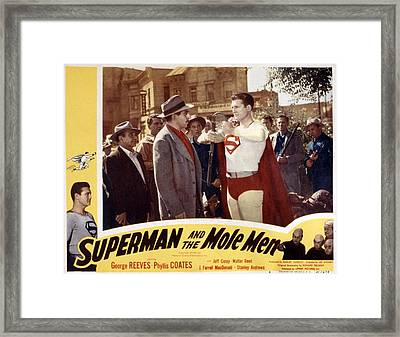 Superman And The Mole Men, Jeff Corey Framed Print by Everett
