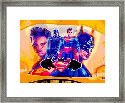 Superman Camaro Framed Print by Chuck Re