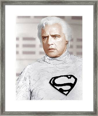 Superman, Marlon Brando, 1978 Framed Print by Everett