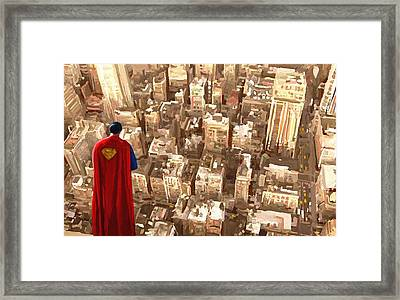Superman Over Metropolis Signed Prints Available At Laartwork.com Coupon Code Kodak Framed Print
