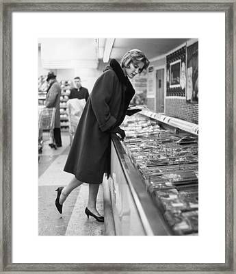 Supermarket Shopper Framed Print by Hill Photographers/Archive Photos