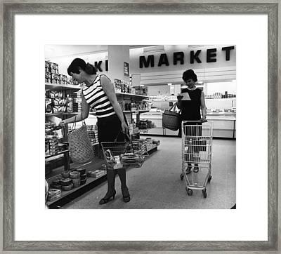 Supermarket Shopping Framed Print by V Thompson