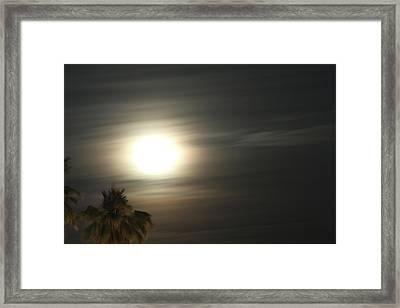 Framed Print featuring the photograph Supermoon II by Carolina Liechtenstein