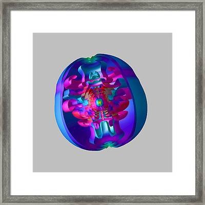 Supernova Explosion Framed Print