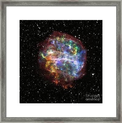 Supernova Remnant G292.0+1.8 Framed Print by Nasa