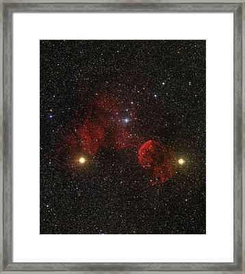 Supernova Remnant Ic 443 Framed Print by Mpia-hd, Birkle, Slawik
