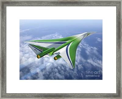 Supersonic Aircraft Design Framed Print by NASA/Science Source