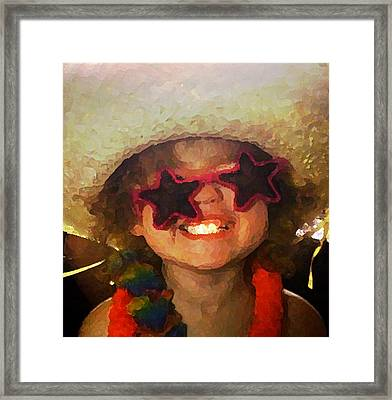 Superstar Framed Print by Gina Barkley