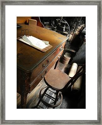 Supervisors Desk Framed Print by Jackie Stier