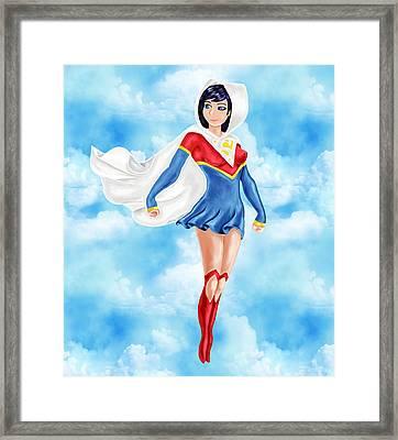 Superwoman Framed Print