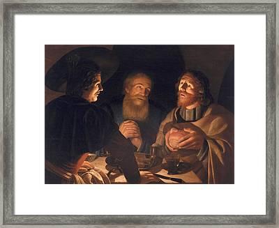 Supper At Emmaus Framed Print by Cryn Hendricksz Volmaryn